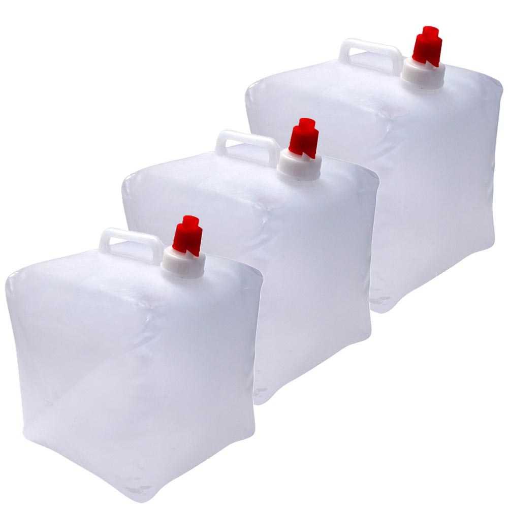 3er Set Wasserkanister faltbar je 10 Liter