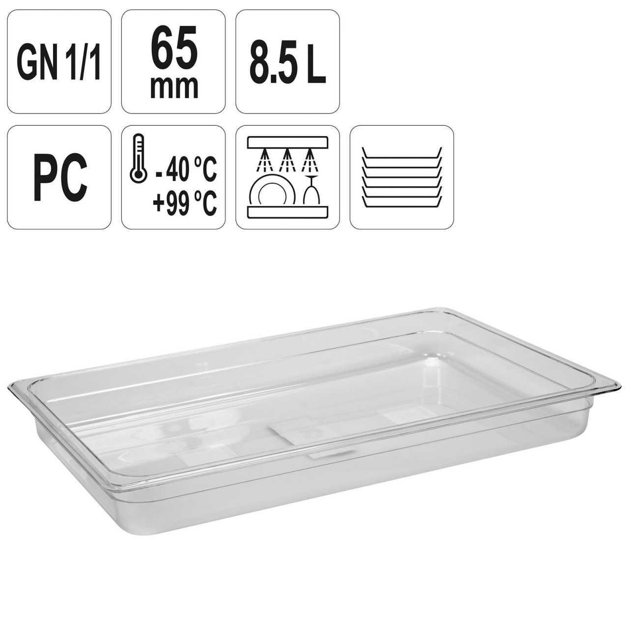 YATO Profi GN Gastronorm Behälter Kunststoff 1/1 65mm