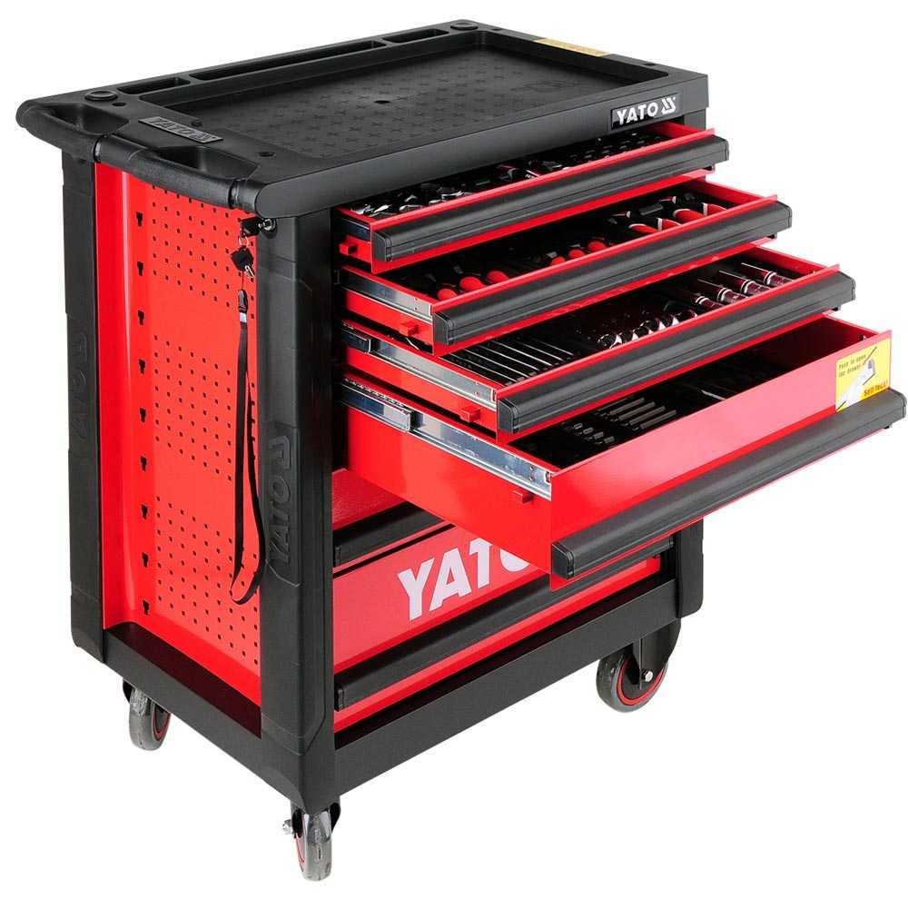 YATO Profi Werkzeugwagen YT-5530 177 teilig bestückt Werkzeugwagen