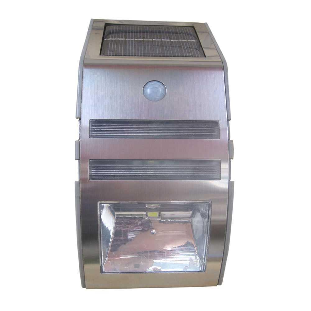 Grafner® LED Solar Wandlampe mit Bewegungsmelder Edelstahl Wandleuchte Solarstrahler