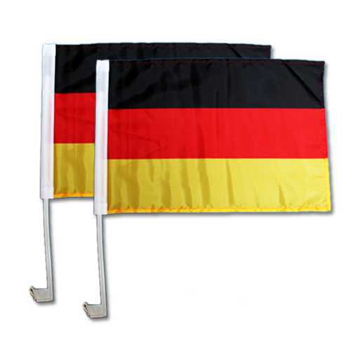 2er Set Autoflaggen Deutschlandfahne 30 x 45 cm