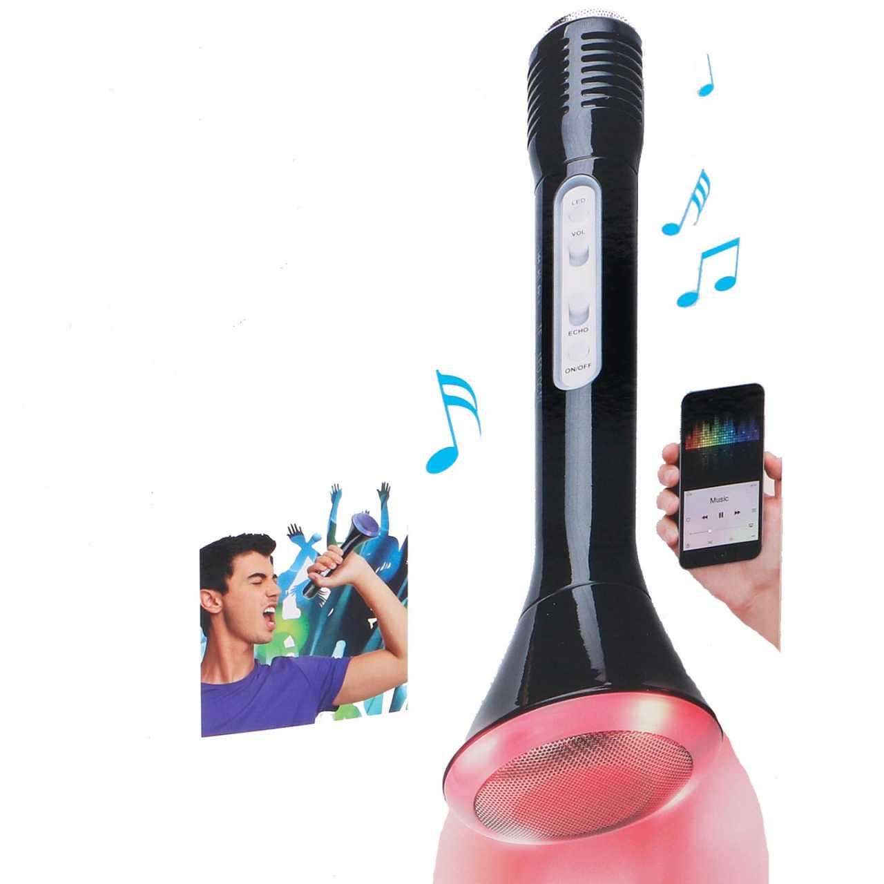 Soundlogic Light-Up 2in1 Karaoke-Mikrofon mit Lautsprecher