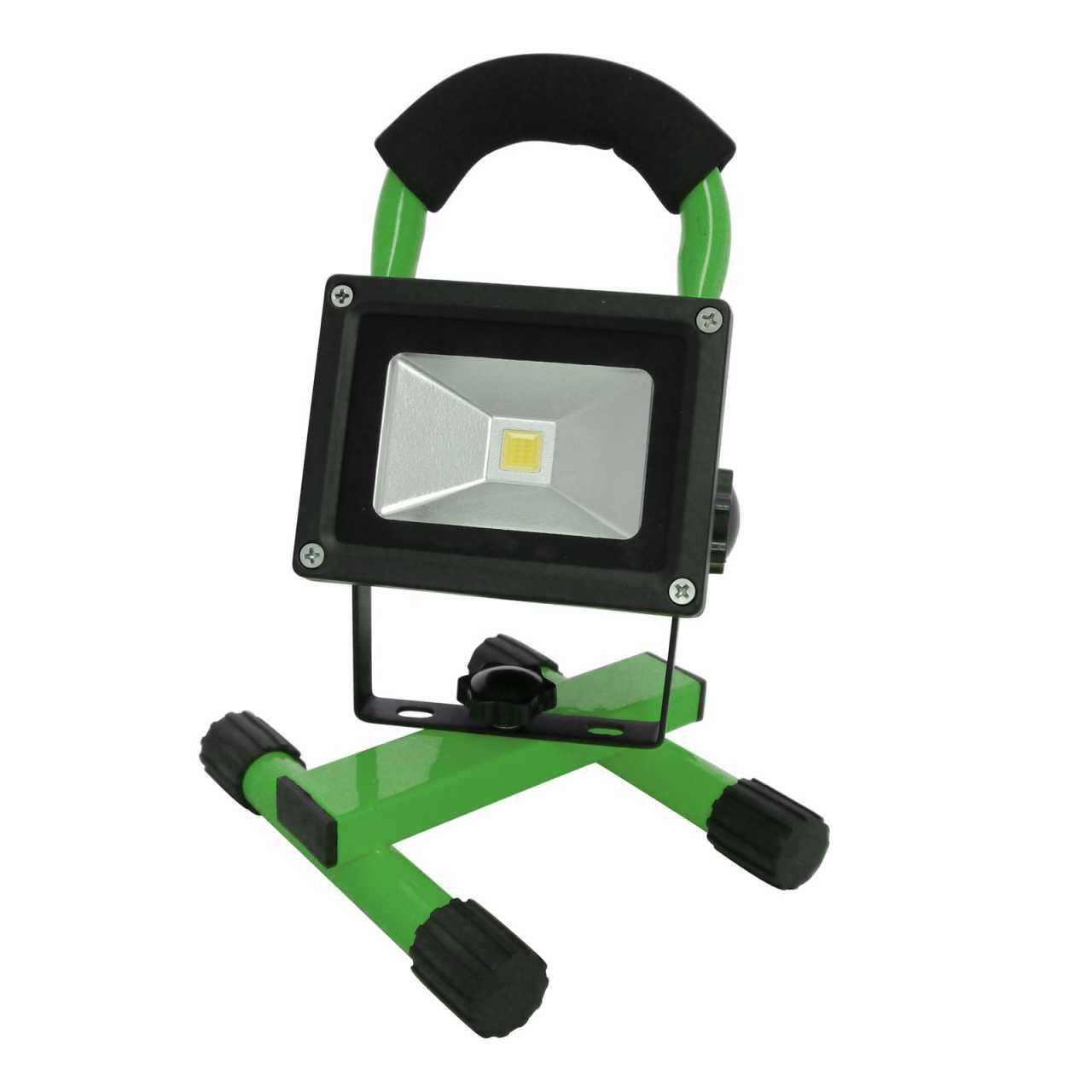 Grafner LED Baustrahler 10 Watt 2200 mAh Akku in Grün Flutlicht