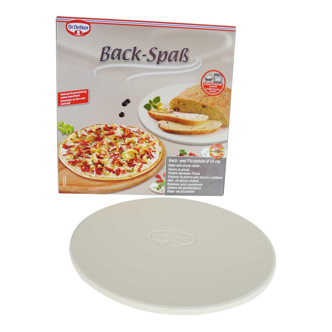 Dr. Oetker Back- und Pizzastein Ø 33cm für den Backofen oder Grill