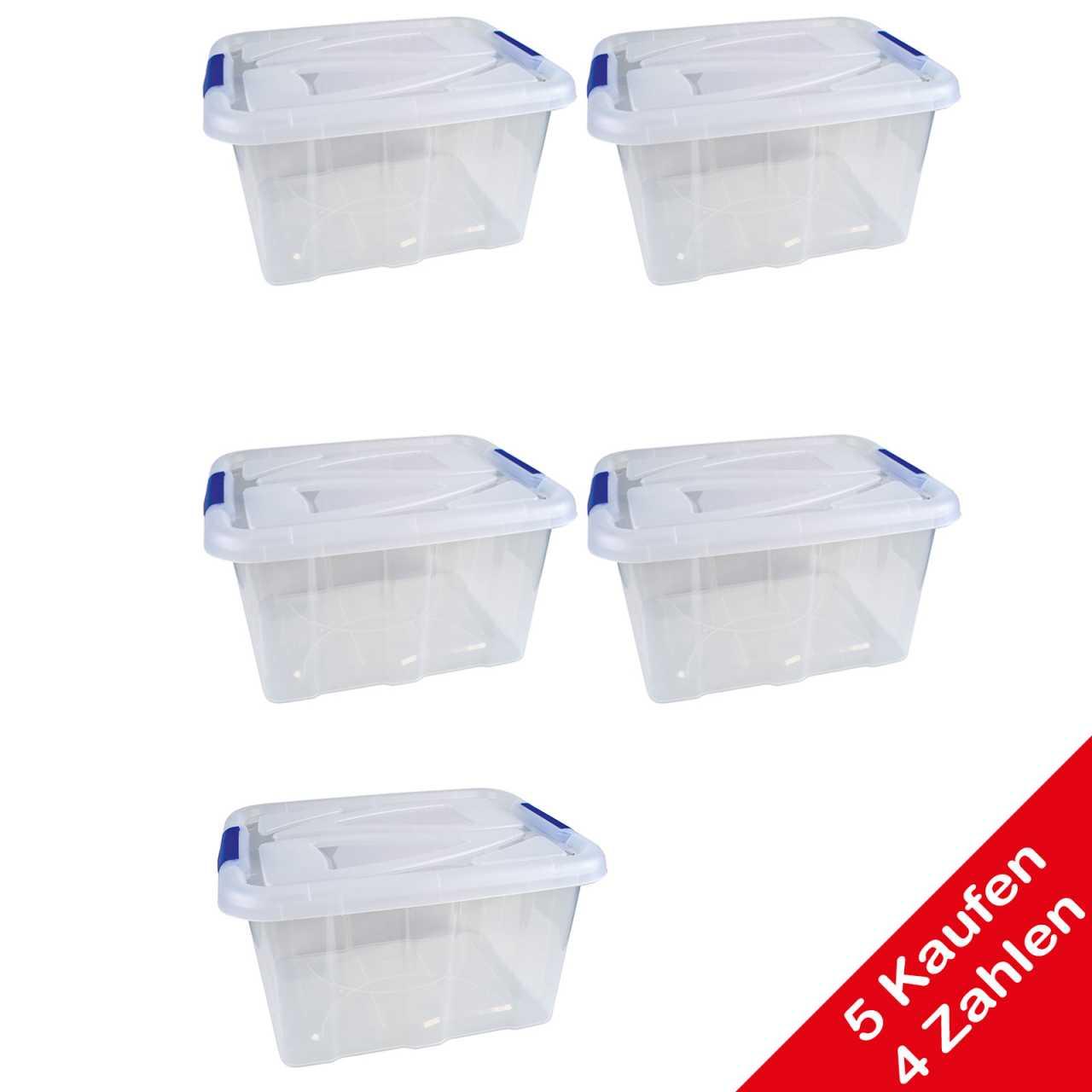 Aktion: 5 Kaufen 4 Zahlen Stapelboxen mit Deckel 30 Liter