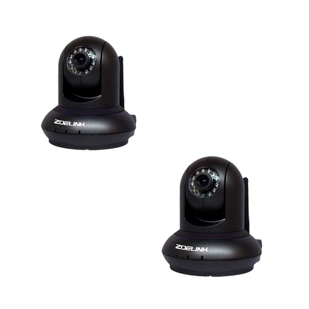 2er Set Zoelink HD Wireless IP Kamera Indoor ZL601-1MP-B Schwarz