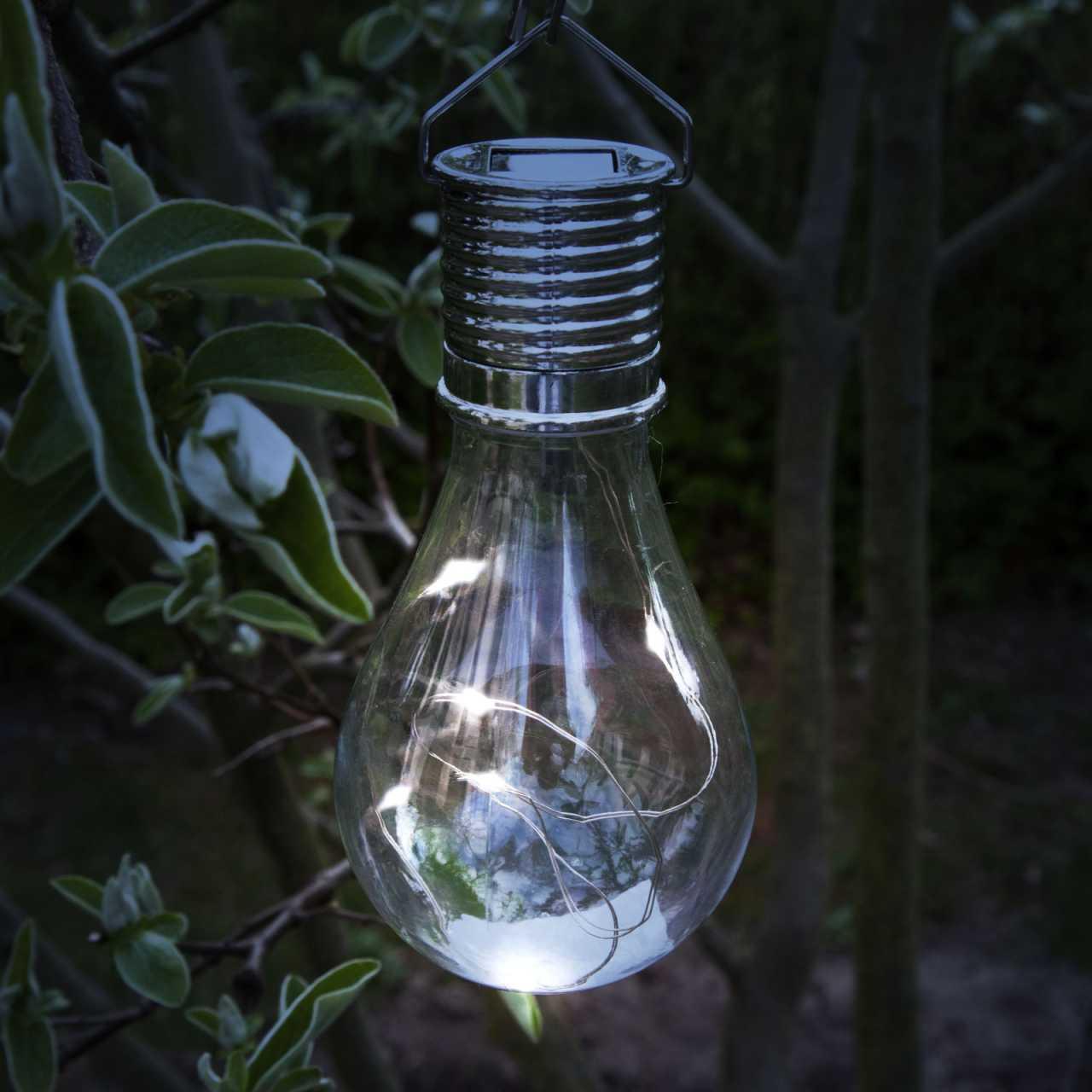 10er Vorteilspack Grafner® LED Solar Glühbirne mit Micro Lichterkette