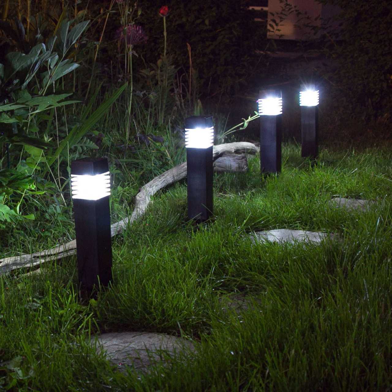 2x Grafner® Solar LED Gartenleuchte Solarlampe Solar Wegleuchte
