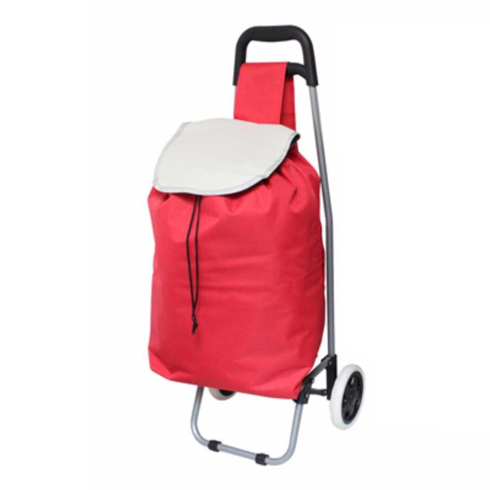 Einkaufstrolley Deluxa rot Trolleytasche Einkaufsroller