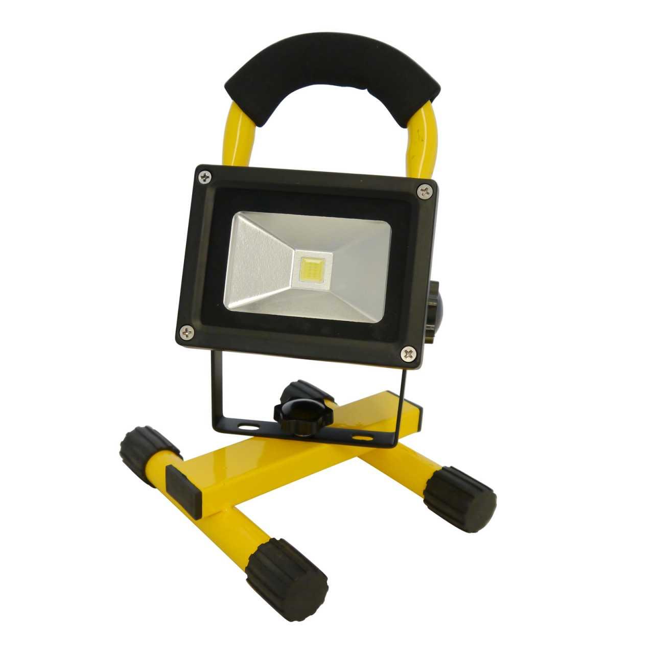 Grafner LED Baustrahler 10 Watt 2200 mAh Akku in Gelb Flutlicht