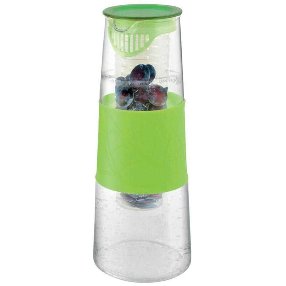 Glaskaraffe mit Fruchteinsatz grün