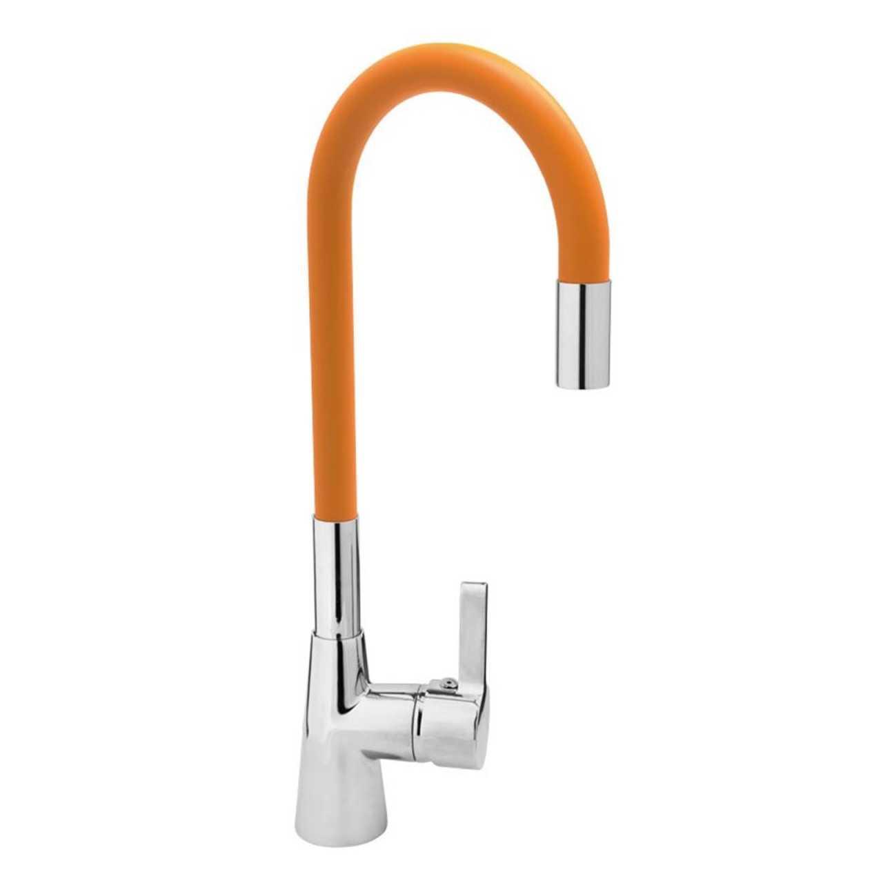 Spültisch Einhebel Küchenarmatur flexibel in orange Wasserhahn