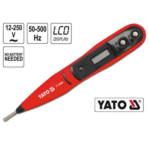 YATO Profi Digitaler Spannungsprüfer LCD YT-2863 Phasenprüfer Stromprüfer