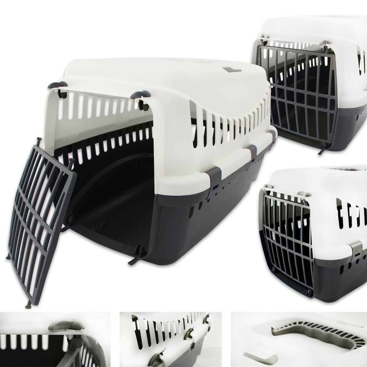 Transportbox für Tiere 46 x 31 x 32 cm Weiß