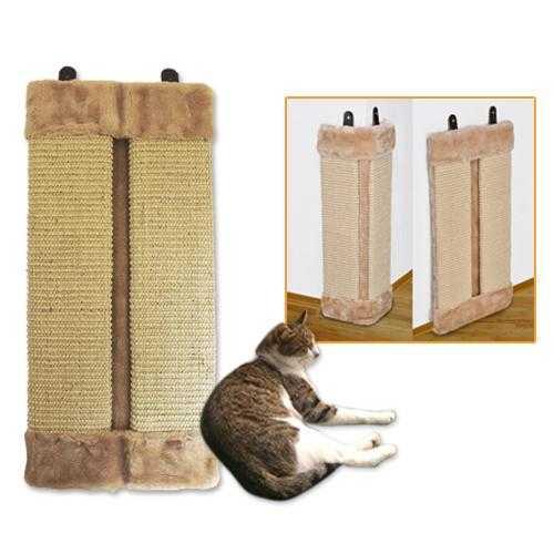 Kratzbrett für Katzen mit Plüsch Kratzecke 23x50cm
