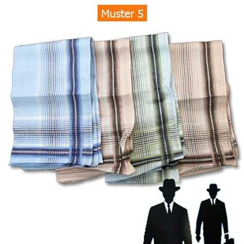 Herren-Taschentücher 4Stk. 100 % Baumwolle 41x41cm Muster 5