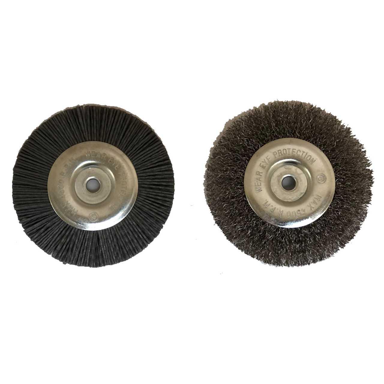 Grafner® 2 Ersatz Fugenbürsten passend für Grafner® Fugenreiniger Unkrautfugenbürste