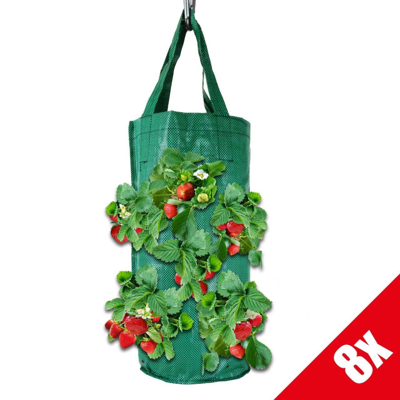 Grafner® Pflanztasche Hängebeet 45cm 8er Set