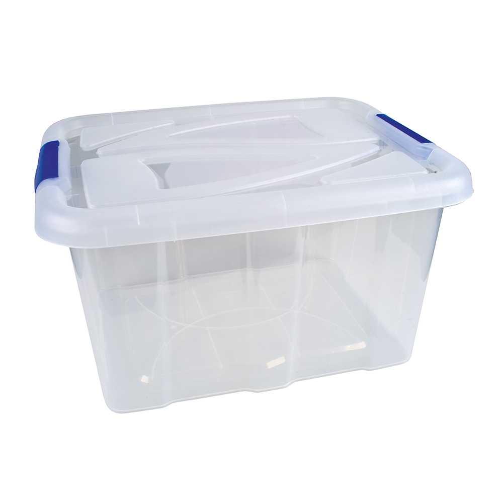 Stapelbox durchsichtig mit Deckel 30 Liter