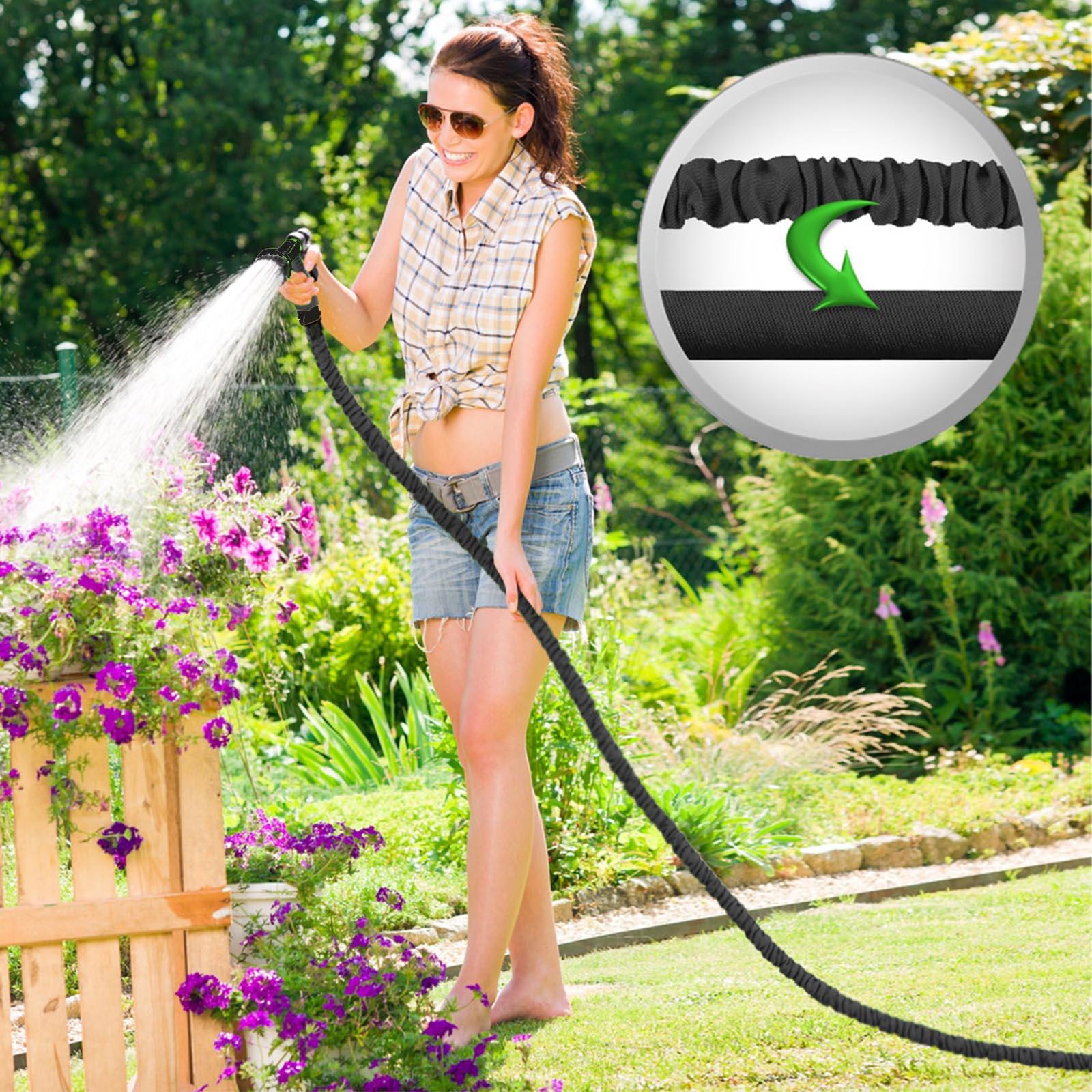"""Grafner 30m Flexibler Gartenschlauch 1//2/"""" dehnbarer Wasserschlauch Bewässerung"""