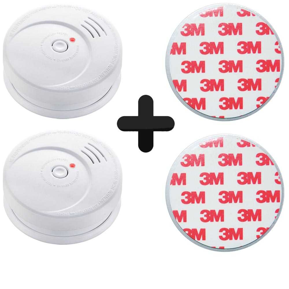 2er Set Grafner Rauchmelder 85dB mit 10 Jahres Batterie und Magnetpad