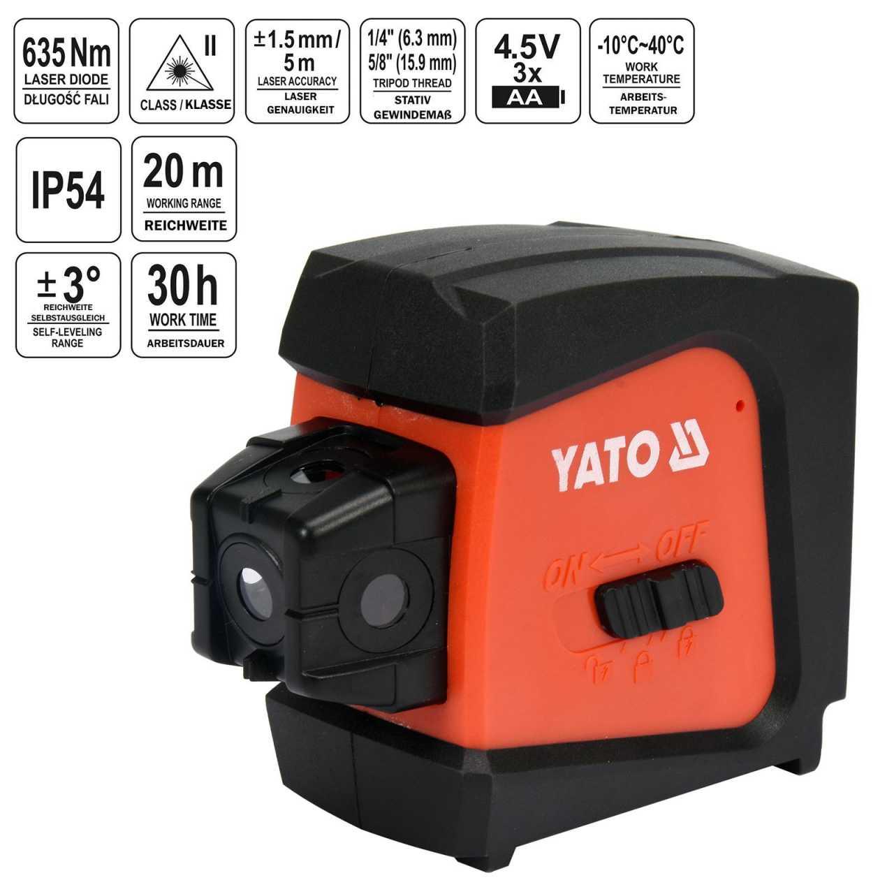 YATO Profi 5-Punktlaser 20m selbstnivellierend YT-30427