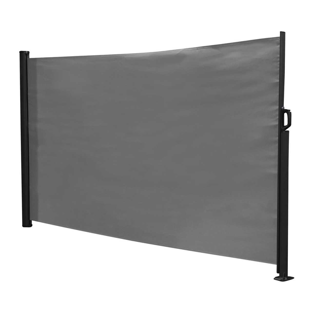 Kynast Seitenmarkise 300x160cm anthrazit Sichtschutz Windschutz