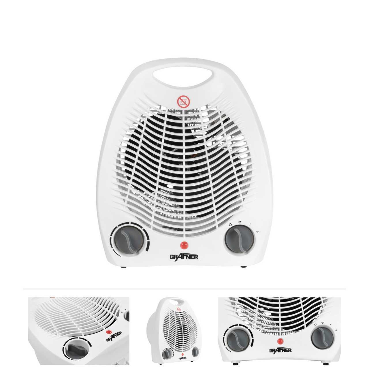 Grafner® 2 in 1 Heizlüfter und Ventilator 2000 Watt HL10831