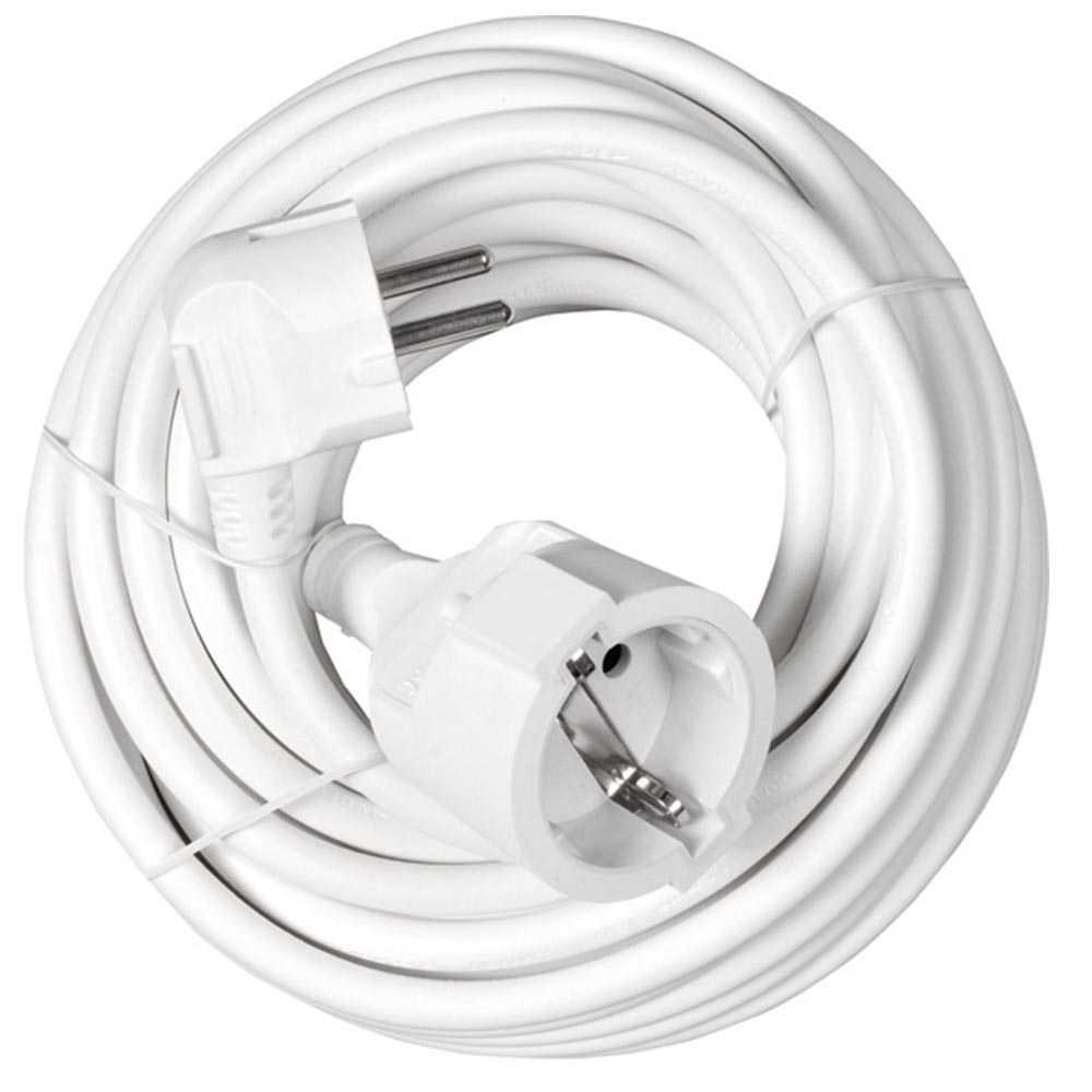 Heitech 10 Meter Verlängerungskabel 3x1,5mm² in weiß