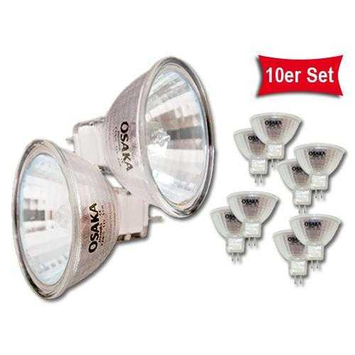 10er Set MR16 50W Halogen Leuchtmittel
