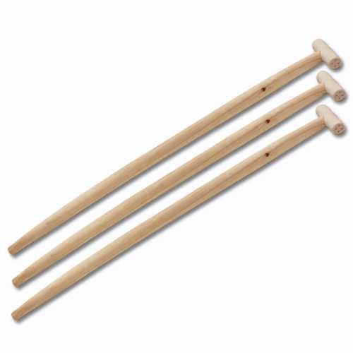 3er Set Flo Spatenstiel Schaufelstiel aus Holz mit T-Griff 90cm