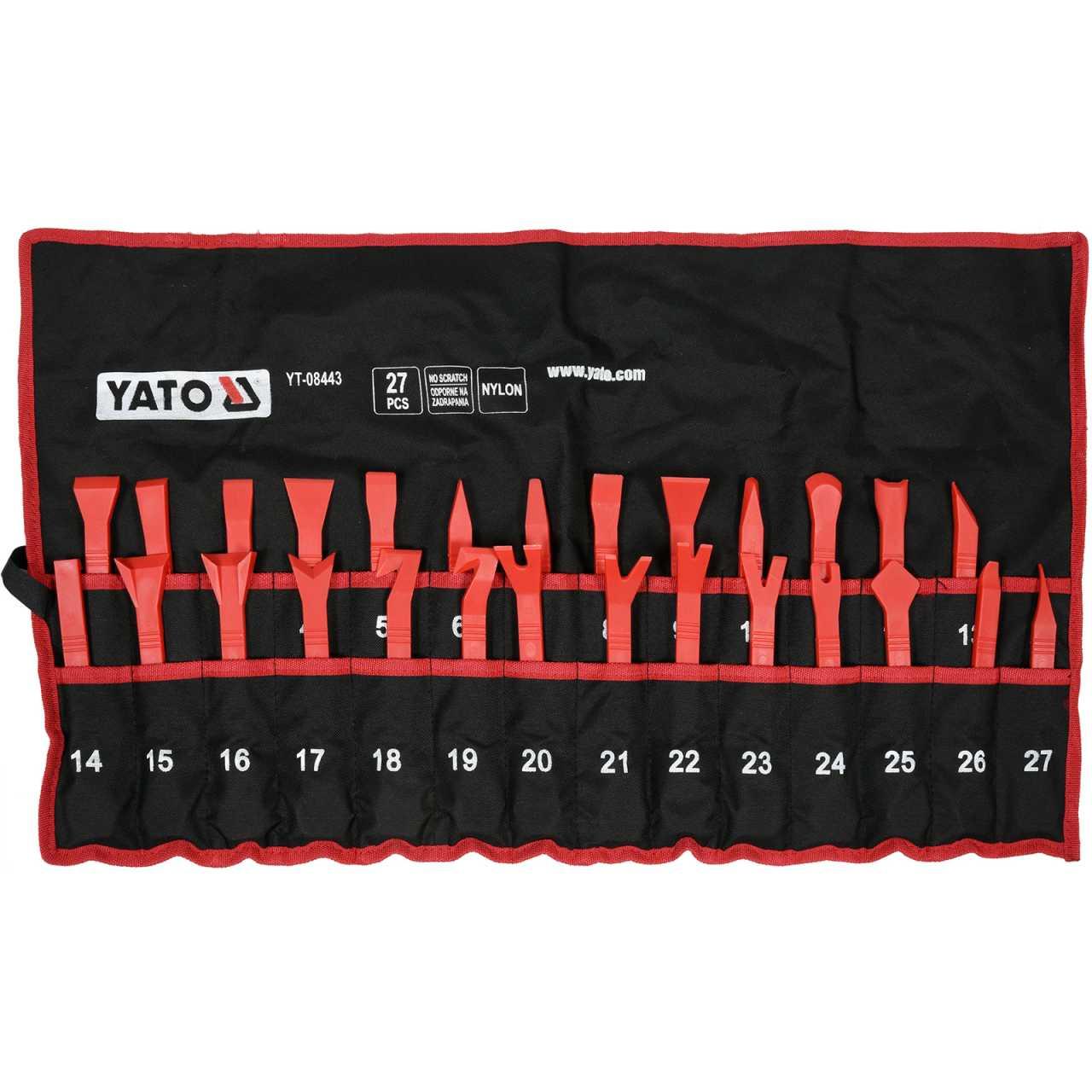 YATO Profi Demontageset für Innenverkleidungen   27 tlg.   in Tasche   YT-08443
