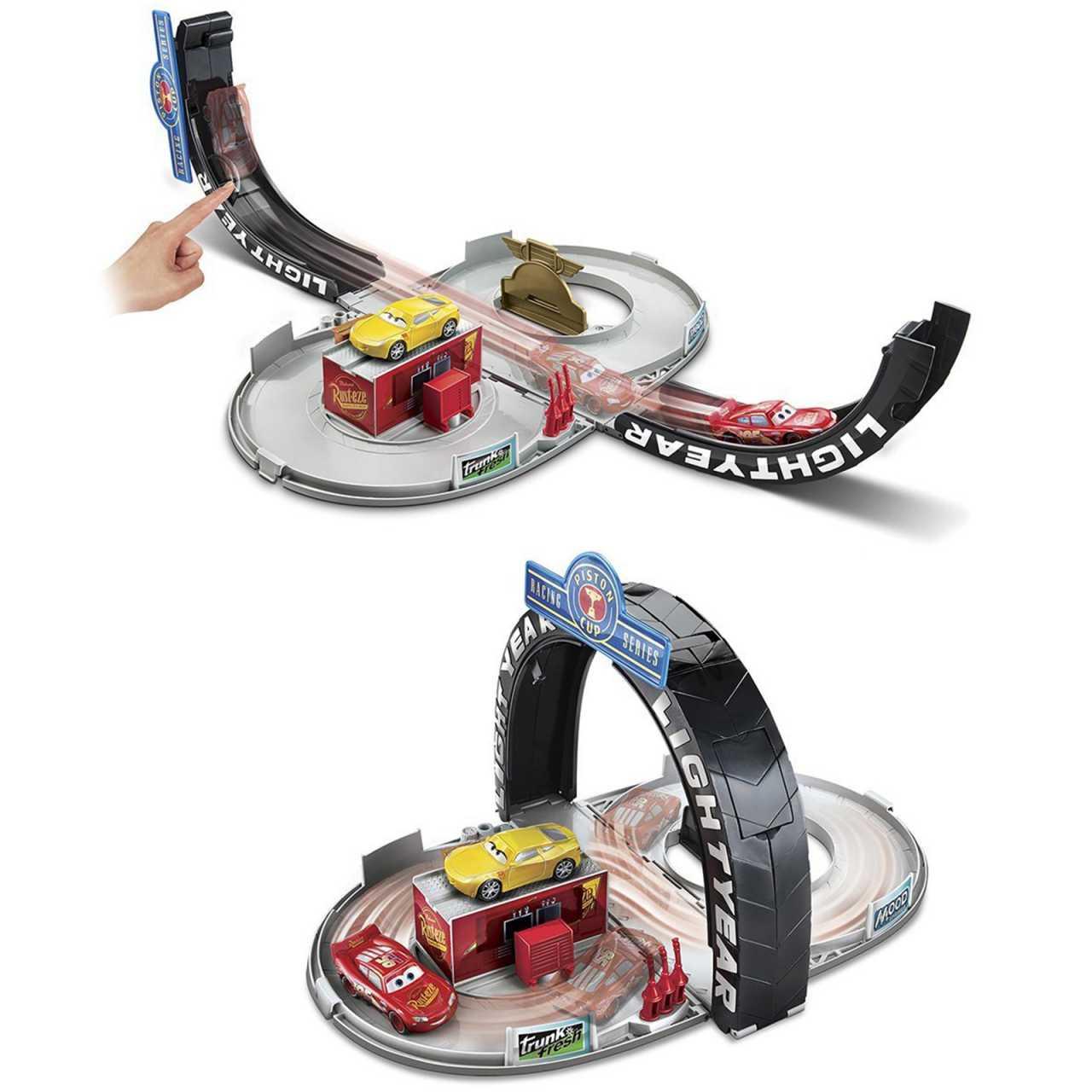 Disney Cars 3 tragbare Rennbahn inkl. Auto Lightning McQueen Mattel FBG43