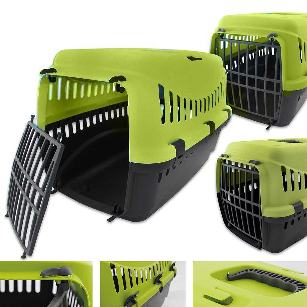 Transportbox für Tiere 46 x 31 x 32 cm Grün