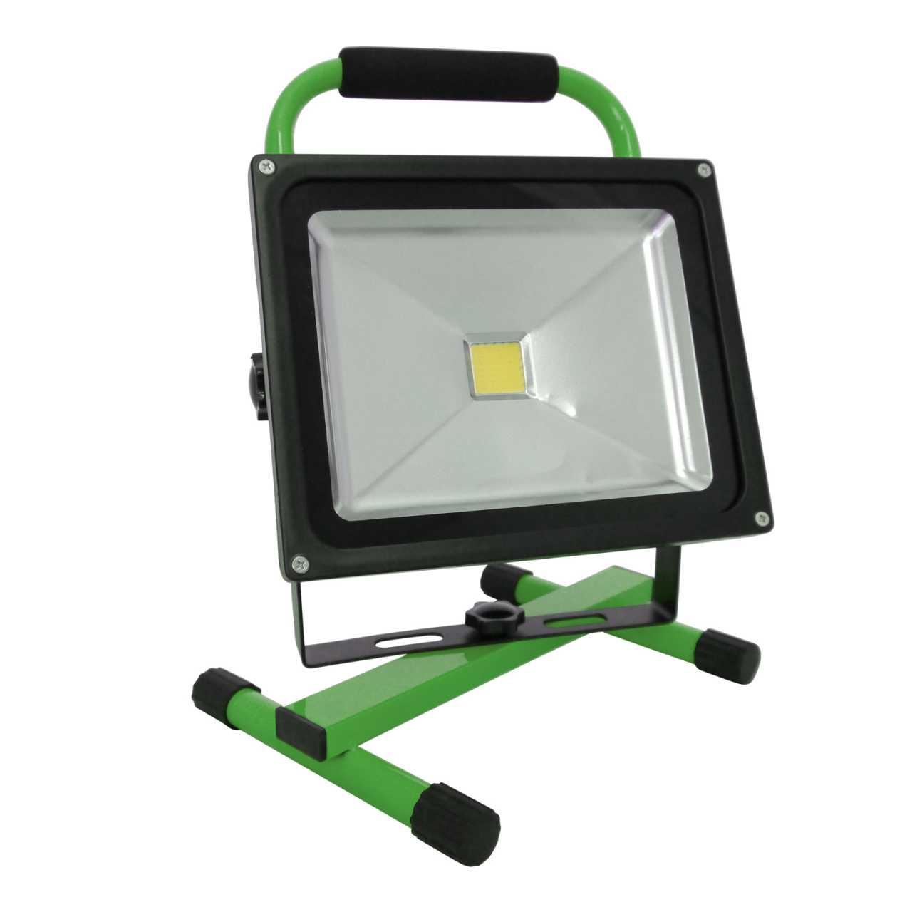 Grafner® LED Baustrahler 30 Watt 8800 mAh Akku in Grün Flutlicht