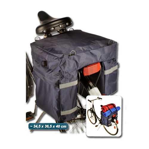 Fahrrad-Gepäcktasche mit Reflektorstreifen Satteltasche Fahrrad Gepäck Tasche Neu