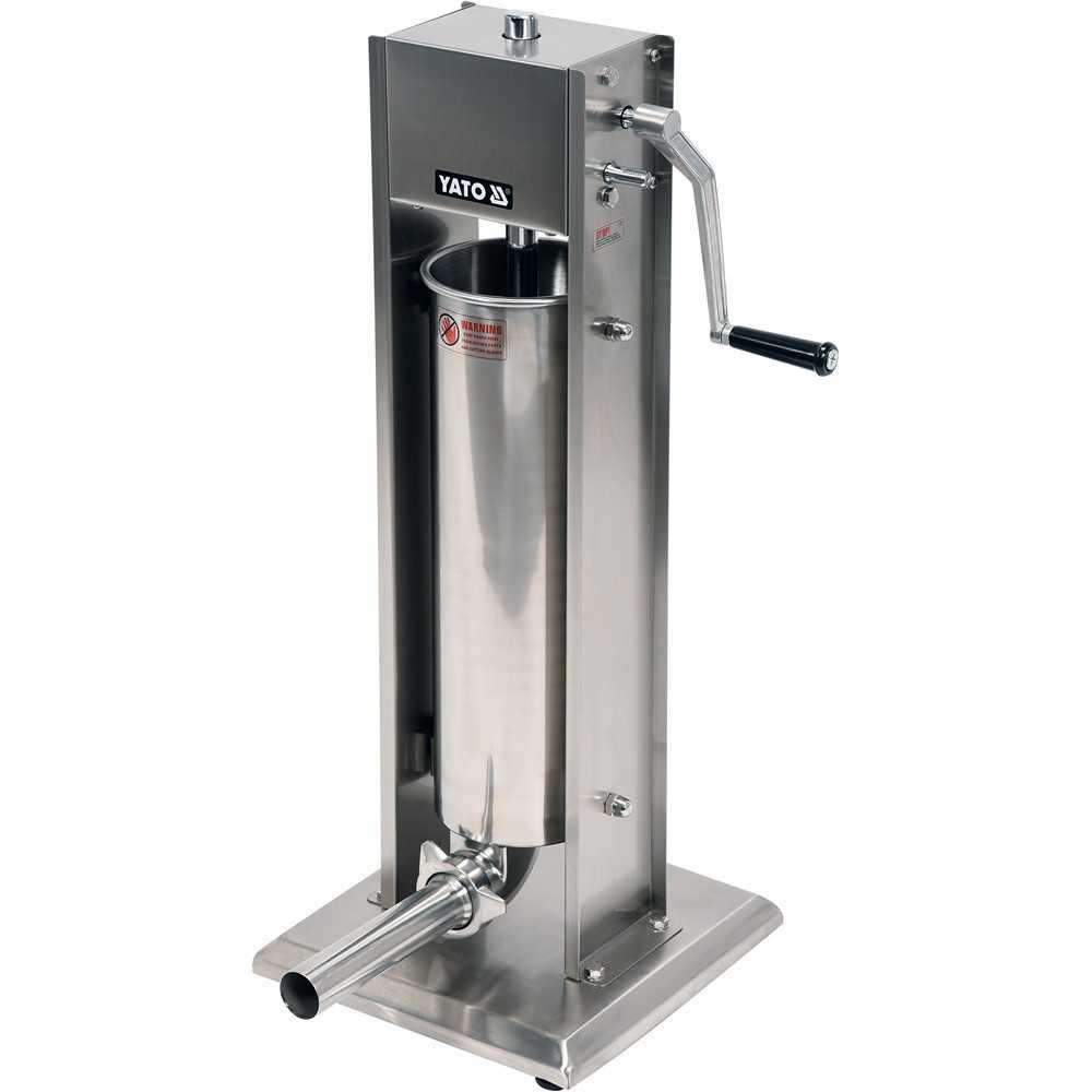 YATO Profi Wurstfüllmaschine Edelstahl 7 Liter YG-03370