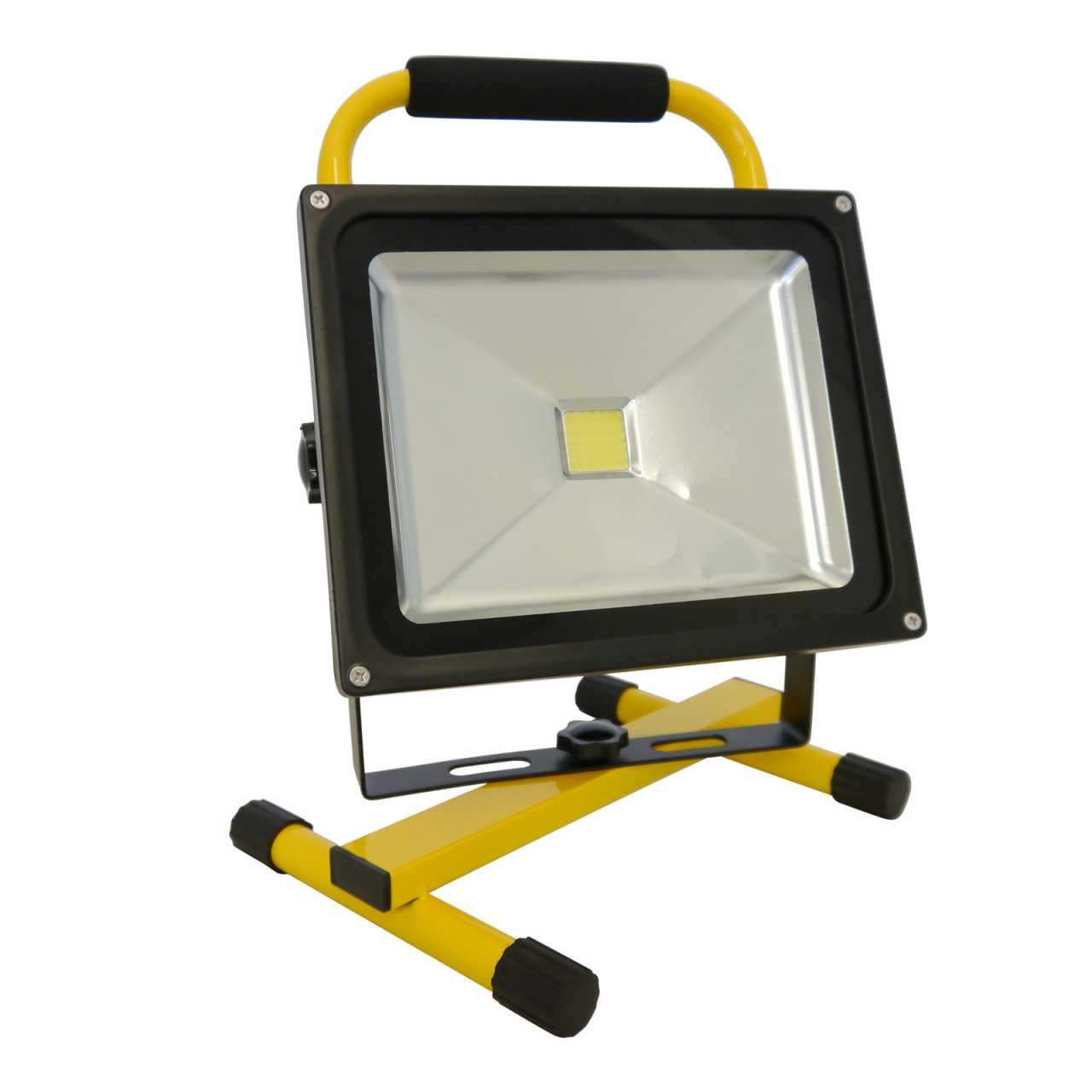 Grafner LED Baustrahler 20 Watt 4400 mAh Akku in Gelb Flutlicht