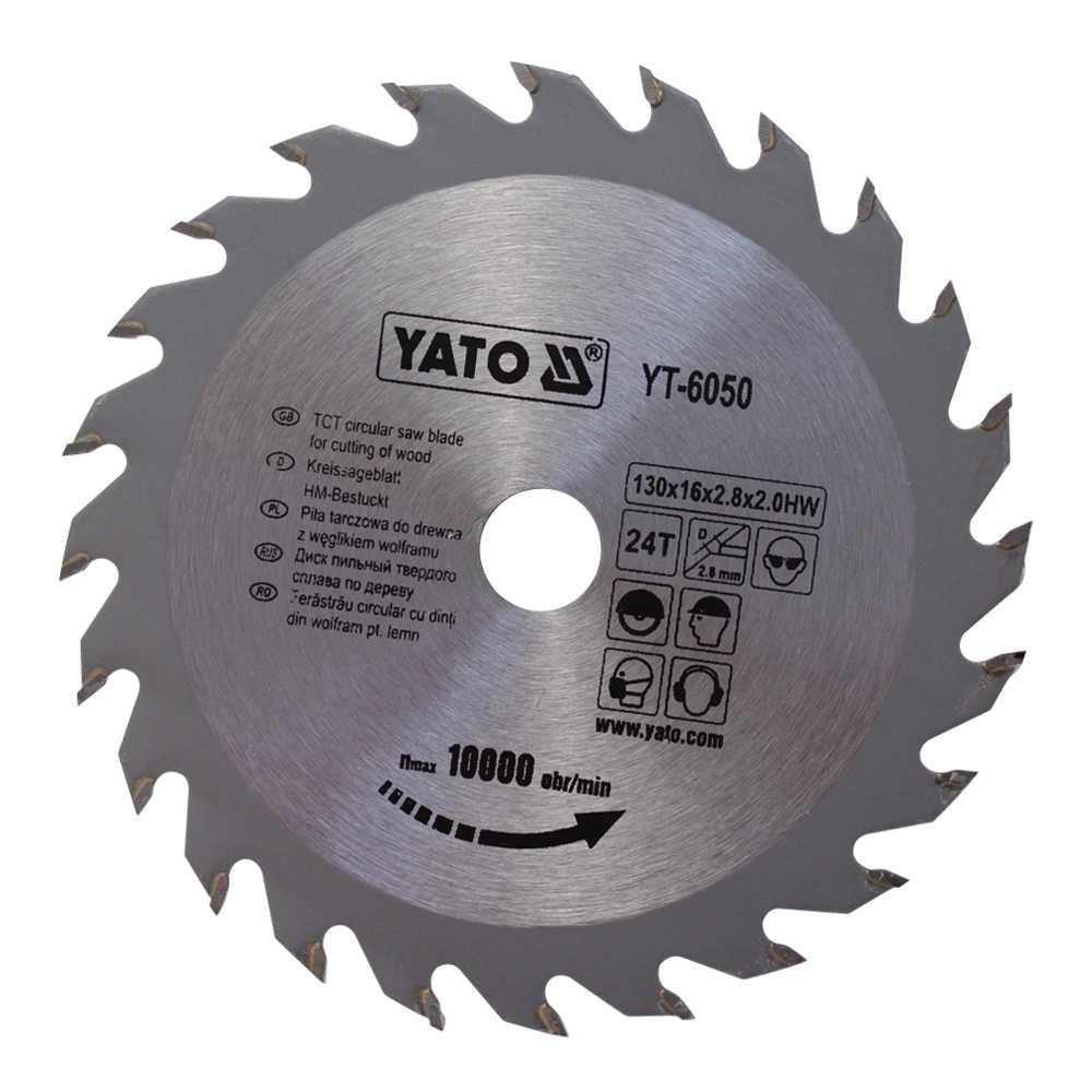 YATO Profi HM Kreissägeblatt 130x16 24T YT-6050