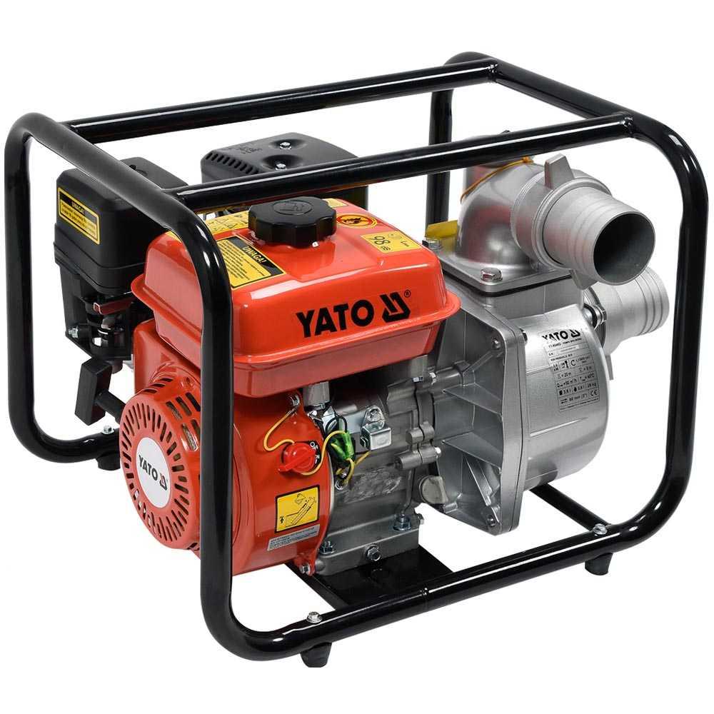 "YATO Profi Benzin Wasserpumpe 3"" 5,9PS 60m³/Stunde YT-85402"
