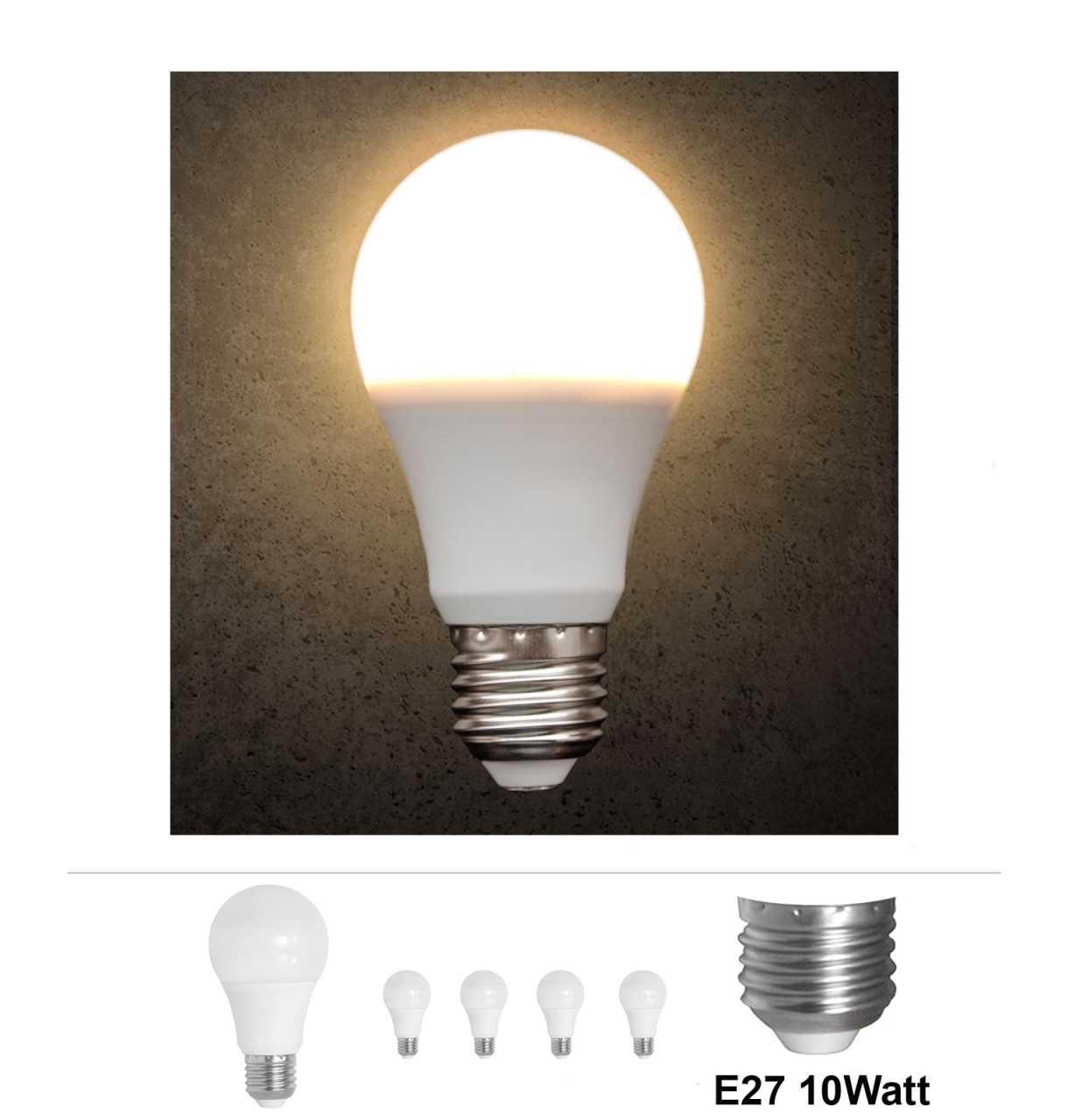 4x Grafner® LED Leuchtmittel E27 10 Watt 3000K Warmweiss