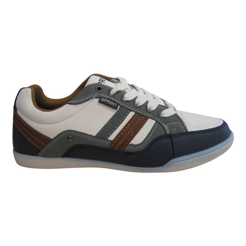 Herren Sneaker Turnschuhe in Weiß/Navy/Grau Größe 42-45