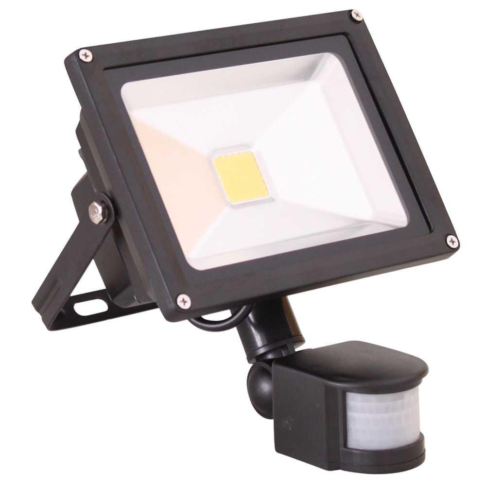 Grafner® LED Flutlichtstrahler mit Bewegungsmelder Warmweiß 30 Watt