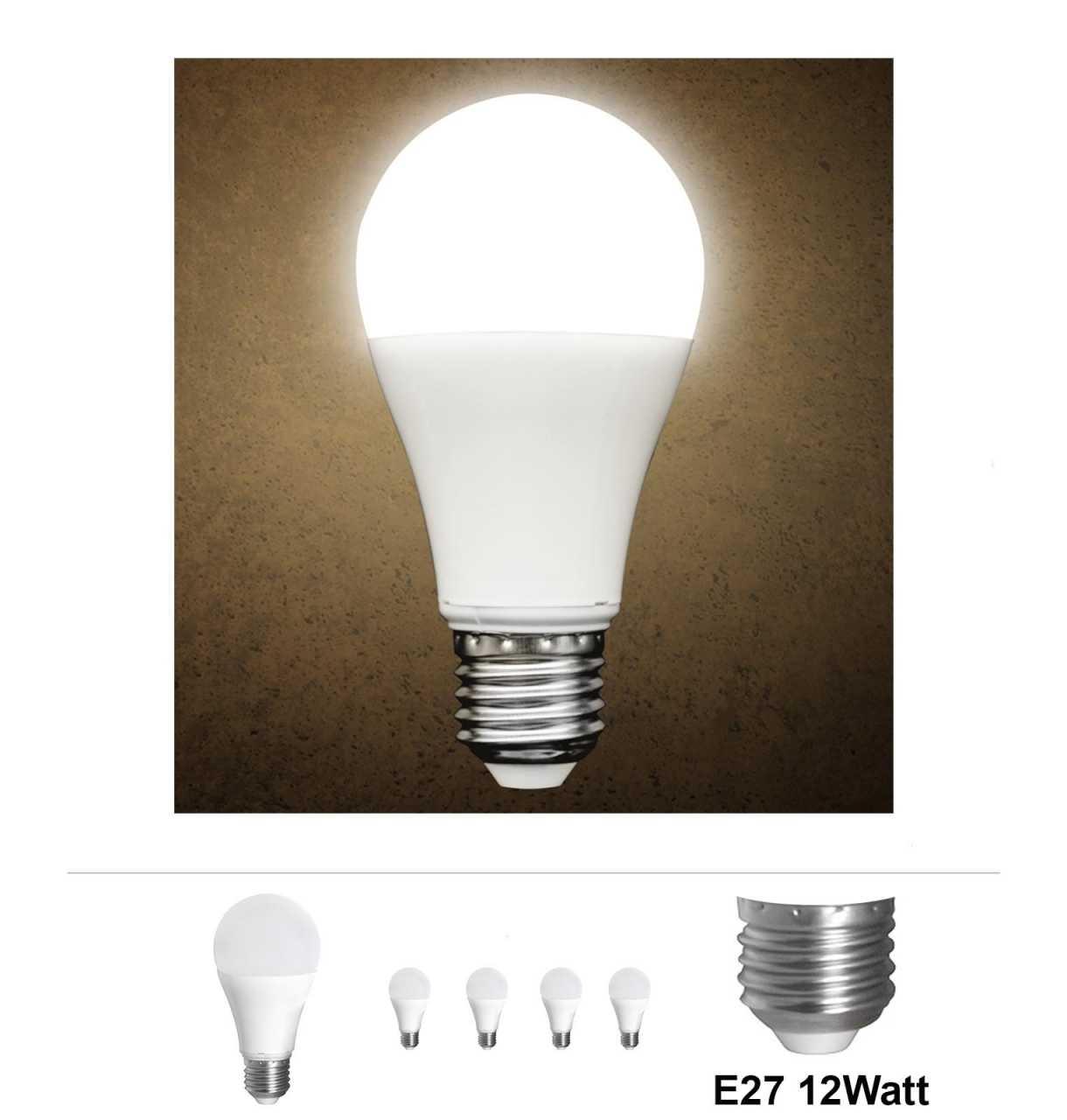 4x Grafner® LED Leuchtmittel E27 12 Watt 3000K Warmweiss