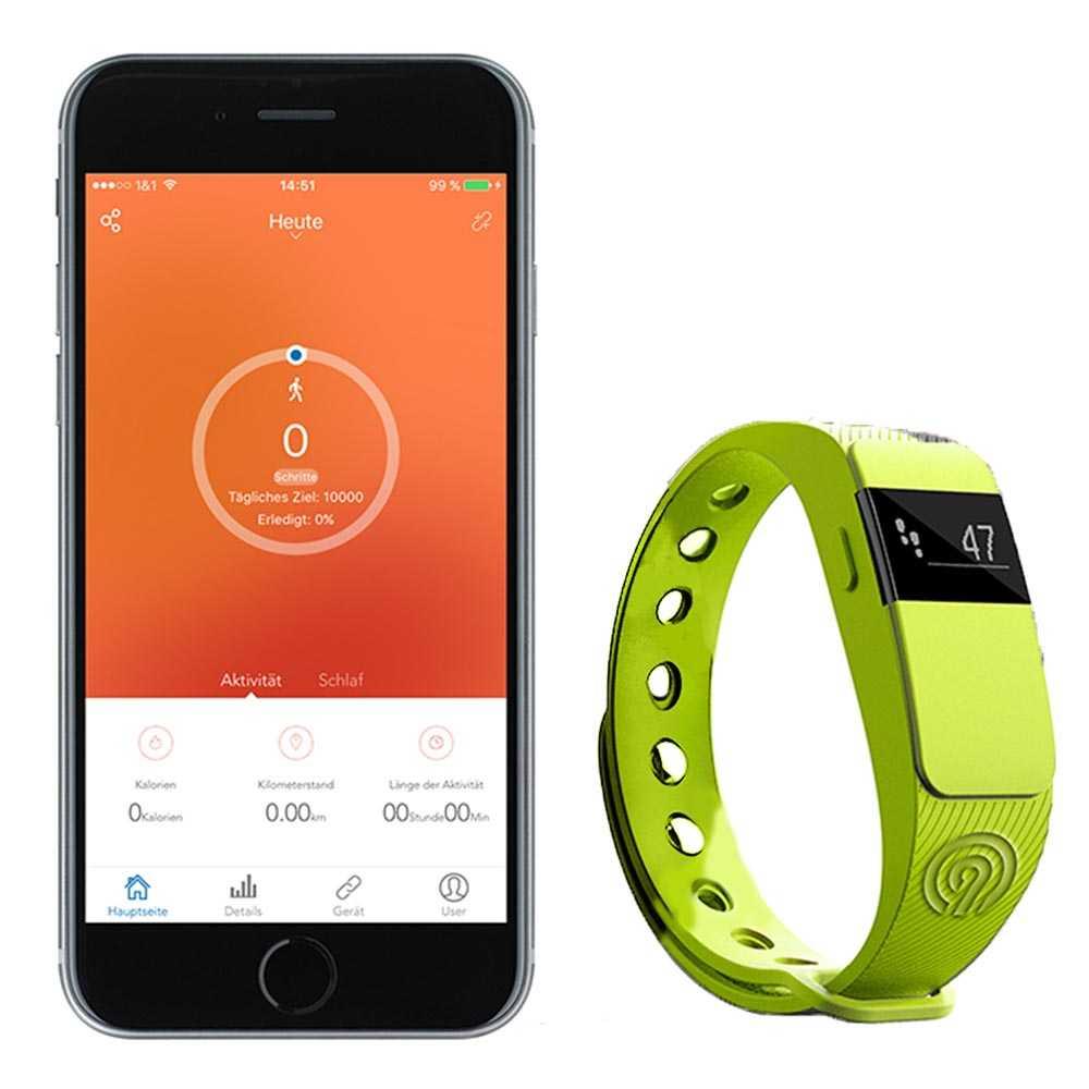 NINETEC Smartfit Fitnesstracker F2 Grün
