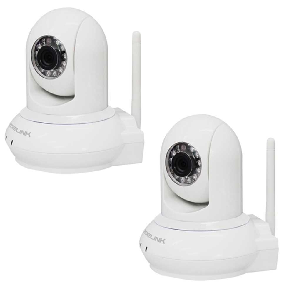 2er Set Zoelink HD Wireless IP Kamera Indoor ZL601-1MP-B Weiss