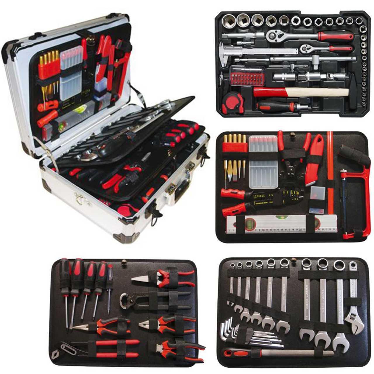 Vintec Werkzeugkoffer VT 128 teilig bestückt
