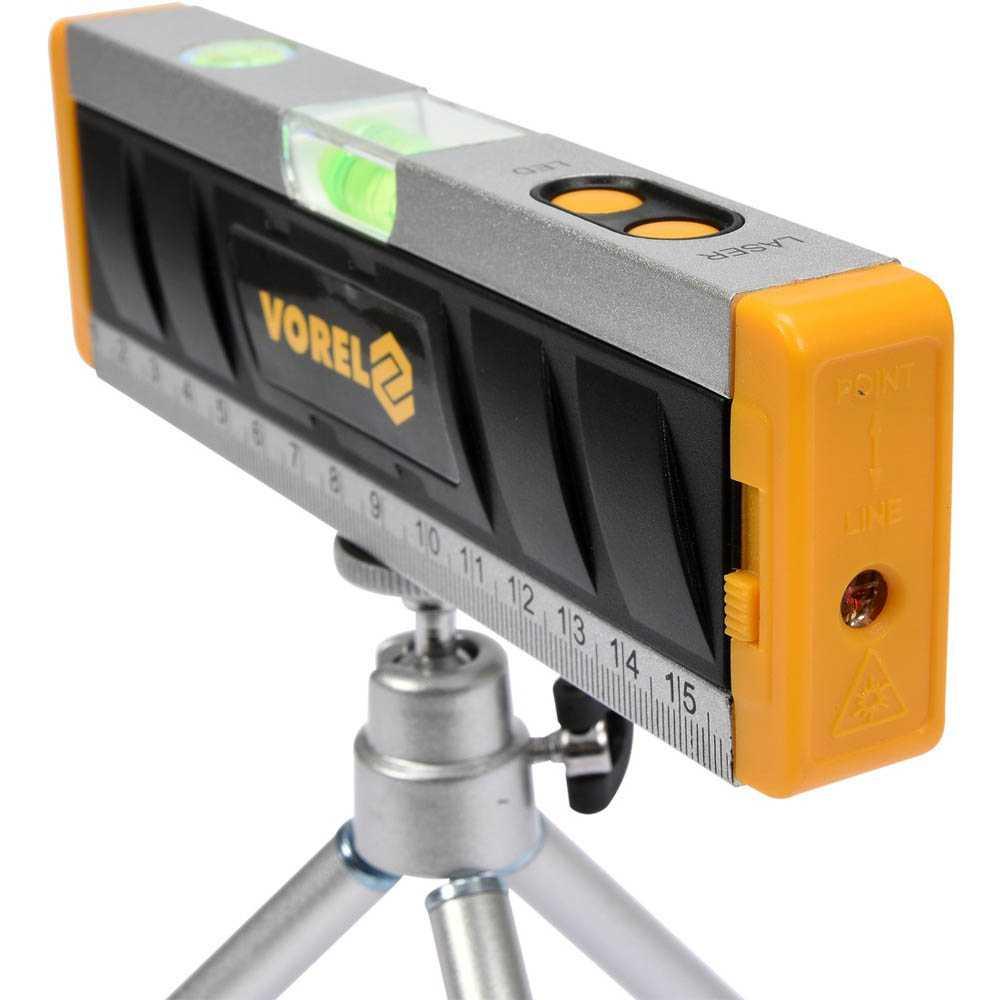 Vorel Laser Wasserwaagen 170mm mit Stativ