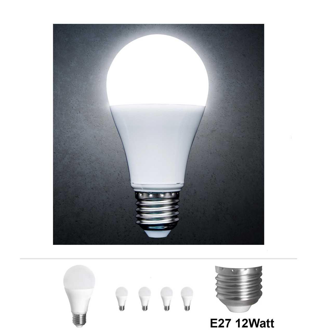 4x Grafner® LED Leuchtmittel E27 12 Watt 3000K Kaltweiss